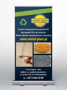 metal-plast - projekt na roll-up